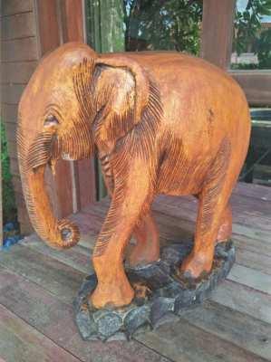 Wooden elephant 14in