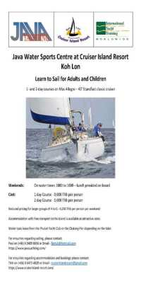 Learn to Sail for Adults and Children on the weekend at Koh Lon Phuket
