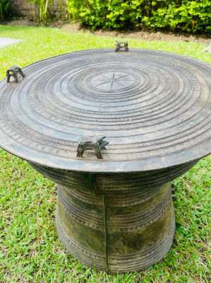 Stunning Asian Frog Rain Drum