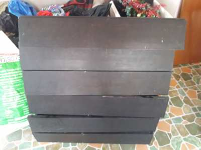 Wooden drawers x 8