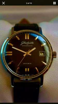Beautiful Vintage Glashutte Spezimatic Watch Cal 75.