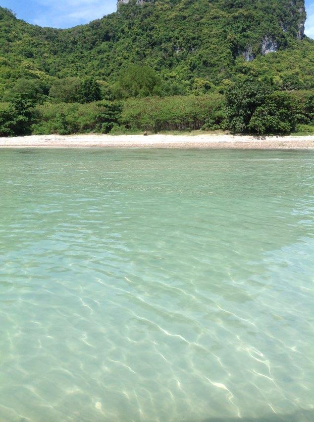 Beachfront land on Island