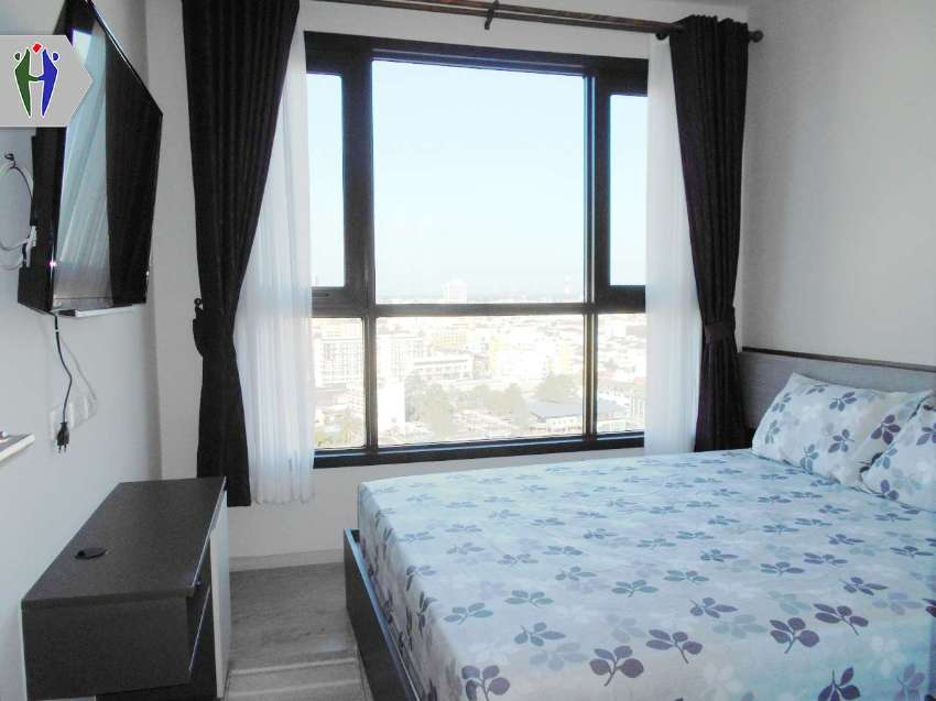 Luxury Condo The Base Central Pattaya for Rent (Height floor+ Nice Vie