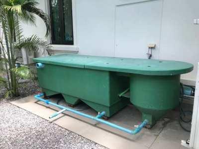 Koi carp filter including  pump