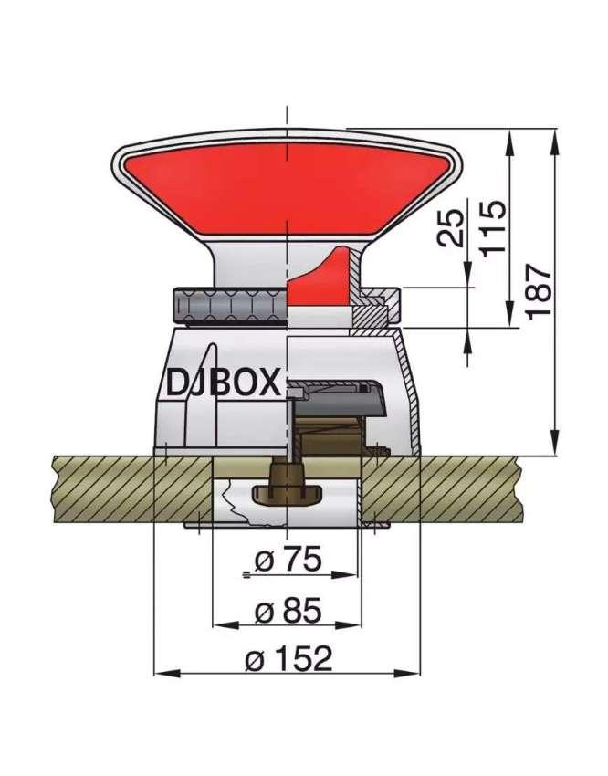 Ventilation - Vetus Dorade Box  - Ø75