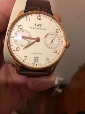 IWC Portugieser 7 Day Reserve Rose Gold