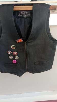 Bugle Boy leather motorcycle vest