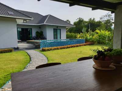 Modern  villa with pool for sale