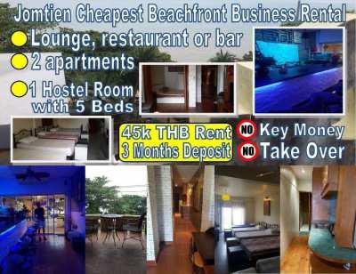 Jomtien Cheapest Beachfront Business Rental