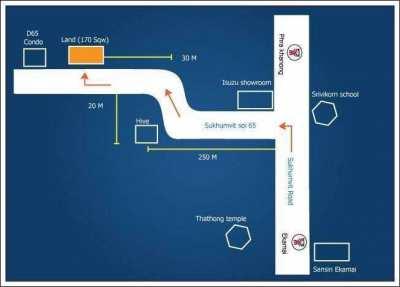 Land for Lease/Rent in Sukhumvit 65 Bangkok (owners post)