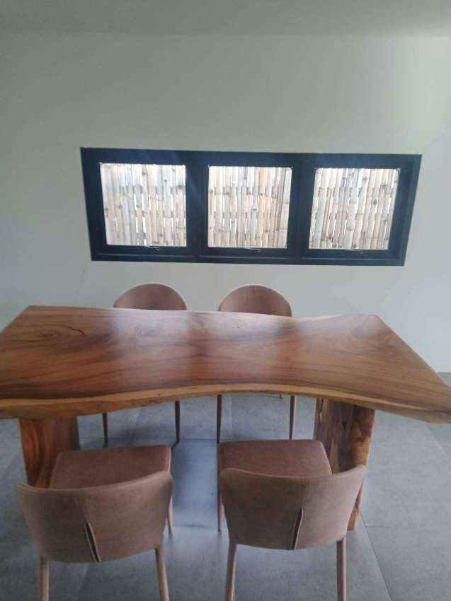 Acacia wooden table and chairs