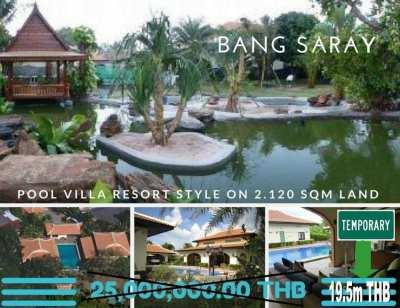 Bang Saray Resort Style Pool Villa Bargain Priced