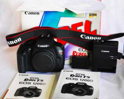 Canon EOS Rebel T5 1200D DSLR Black Body only in Box, EOS1200 D