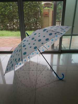 Blue Polka Dots Hook Umbrella
