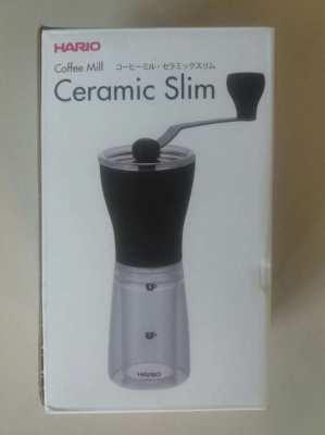 New Coffee Mill Ceramic Slim Hario in Box