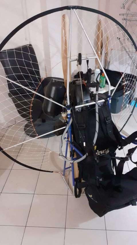 Nimbus 1A paramotor 120cc.  Nova Argon 28 paraglider