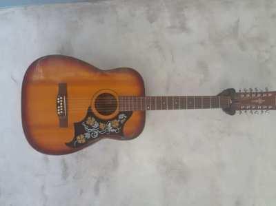 Kasuga Gakki 12 String Guitar 1968 with Gator Case