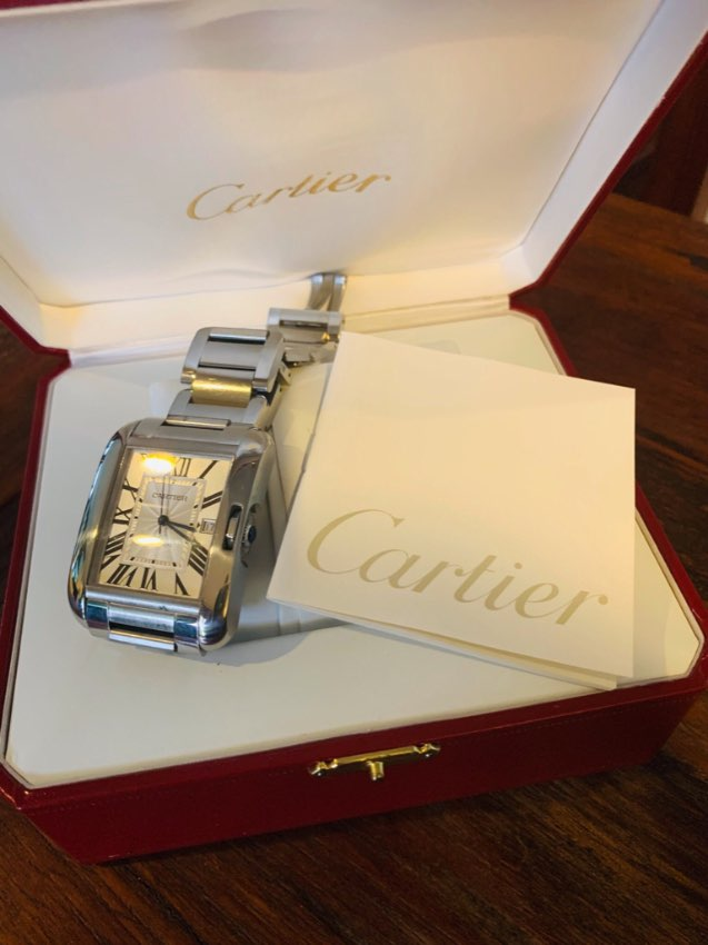 Cartier Tank Anglaise XL Stainless Steel Watch