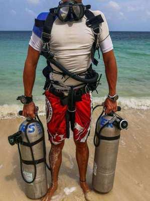 Scuba Diving Sidemount Tecline Regulators