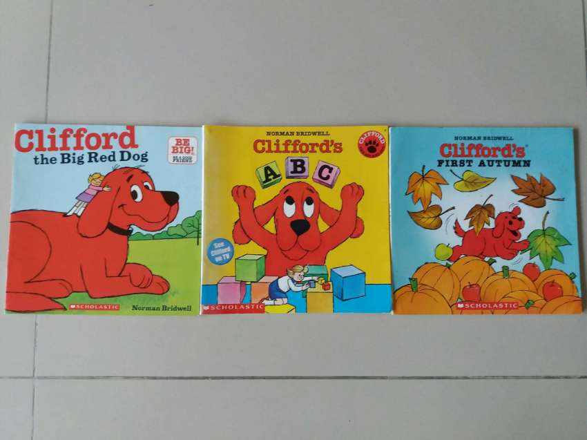 3 SCHOLASTIC BOOKS - Clifford The Big Red Dog - Learn to Read English