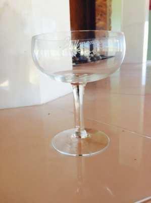 14 original Champagne glasses from the Bellmansro Restaurant in Sthlm