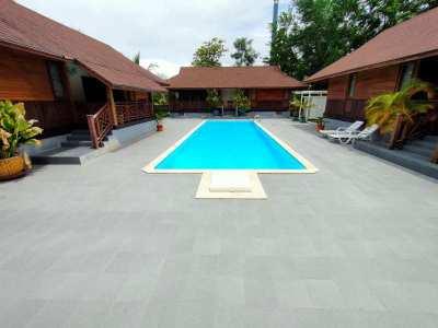 Hot! 3 Resort Style Teakwood Poolside Bungalows and Sala - 22 Rai Plot