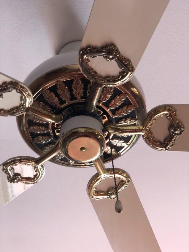 Ceiling Fan White/ Gold
