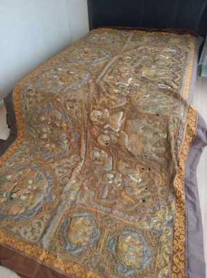 Burmese handwoven cloth 350 x 200 Life of Buddha