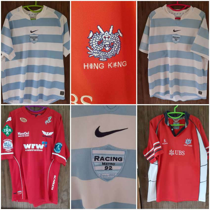 England and Club Rugby Shirts - L and XL