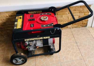 Gasoline compressor to get electricity