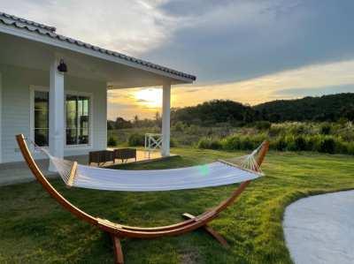 Wood stand hammock
