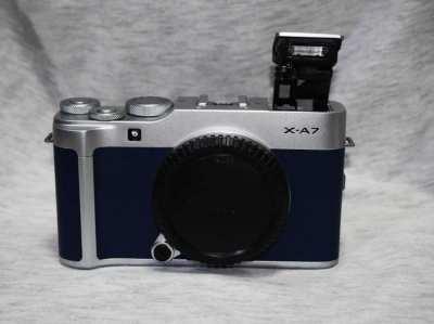 Fuji Fujifilm X-A7 24.2MP 4K Video Navy Blue Body in Box