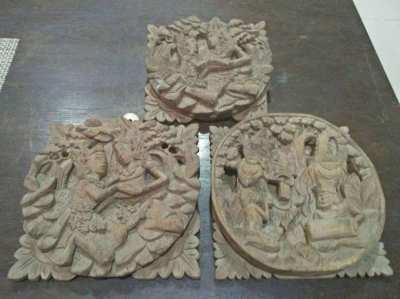 old wooden sculptures