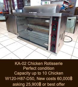 Deep Fat Fryer, Electric Baking Oven, Rotisserie, Restaurant Equipment