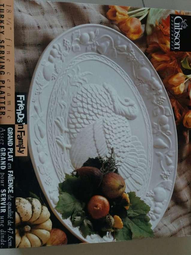 CERAMIC Wild Turkey Platter
