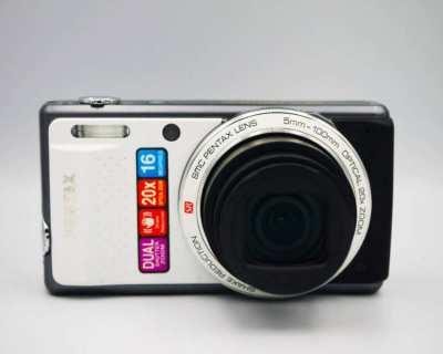 Pentax Optio VS20 Brilliant White Travel-Zoom Digital Camera in Box