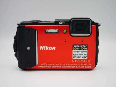Nikon Coolpix AW130 16MP Water/Shockproof Camera GPS, Wi-Fi, NFC