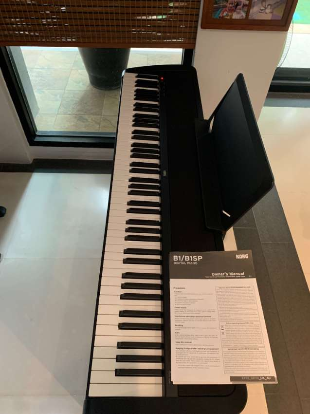 KORG Model B1 Electric Piano/Keyboard - as new and complete with stand