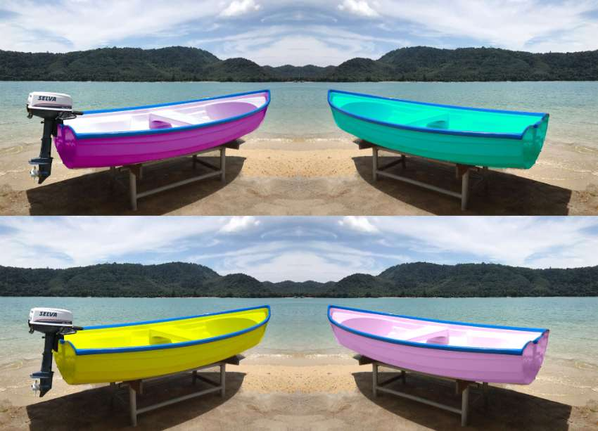 NEW Stylish Fiber Boats 10ft <<  23000 baht >> Any Color you want !
