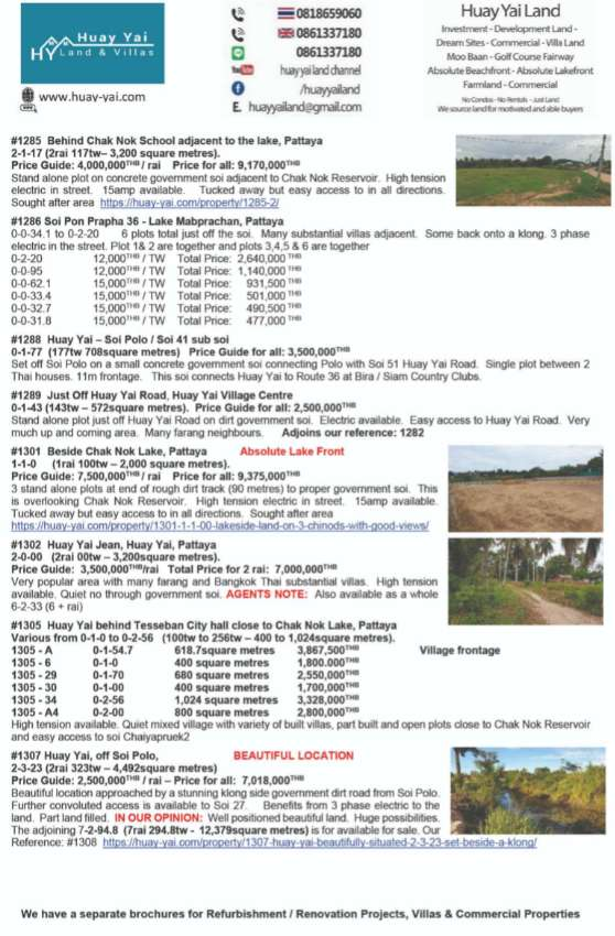 Land Plots for sale up to 3 rai