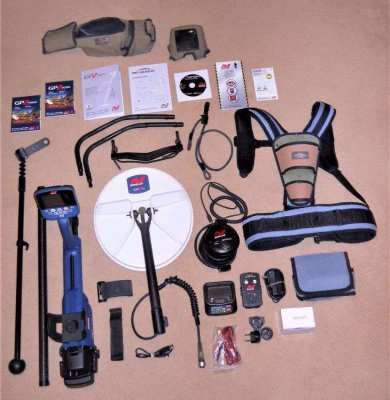 USED Minelab GPZ 7000 Metal Detector with Pro Find 15, Carry Bag