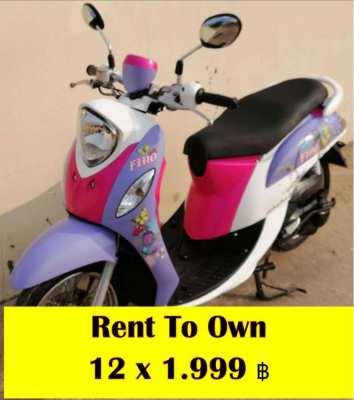 12/2014 Yamaha Fino Cash 17.990 B - Finance (12 x 1.999 ฿)
