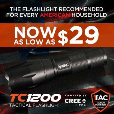 The Bright TC1200 Flashlight To Light Up Your  Every Journey