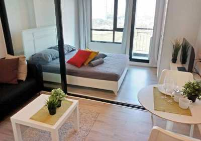 Beautiful Studio at BTS Bearing 4min, 16th, 24sqm, excellent view
