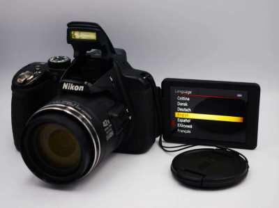 Nikon P520 GPS Wide 42X Zoom ED VR 18.1MP Camera Black
