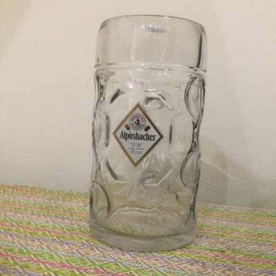 Alpirsbacher Klosterbrau Beer Mug  1 Ltr. Made in Austria