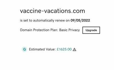 Premium Domains For Sale - vaccine-vacations.com  vaccine-holidays.com