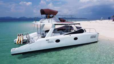 33ft Power Catamaran (like new)