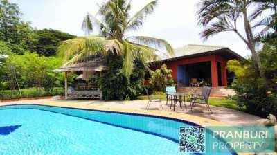 Private Pool Villa On 1 Rai Plot Near Khao Tao Lake And Beach