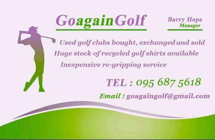 Goagaingolf want your second hand golf clubs